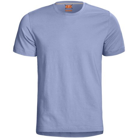 Left Coast Tee Trim Fitted T-Shirt - Stretch Pima Cotton, Short Sleeve (For Men) in Cobalt