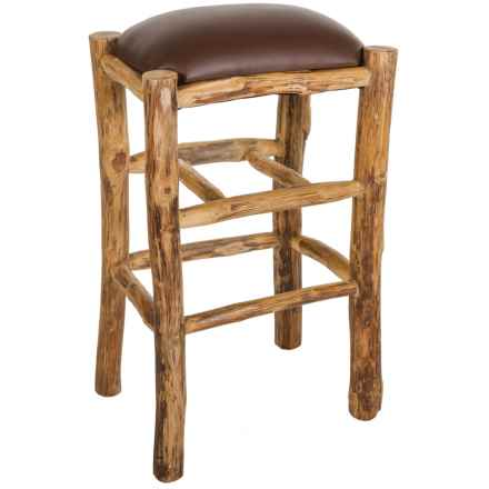 "Legacy Home Solid Teak Stool - 29"" in Brown - Closeouts"