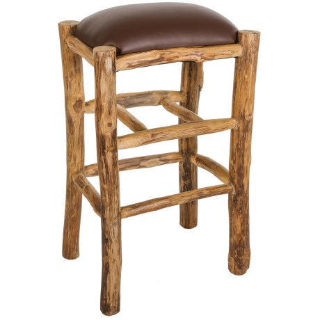 "Legacy Home Solid Teak Stool - 29"" in Brown"