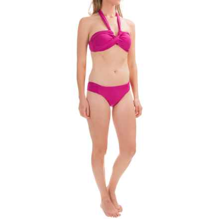 Leilani in the Stars Lux Bandeau Bikini Set - Padded Cups, Brief Bottoms (For Women) in Plum - Closeouts