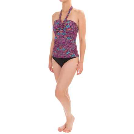 Leilani in the Stars Lux Print Tankini Set - Molded Cups, Brief Bottoms (For Women) in Pink - Closeouts