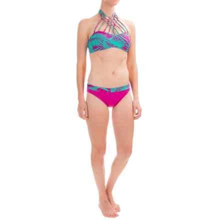 Leilani Paradise Palms Macrame Bikini Set (For Women) in Plum/Plum - Closeouts