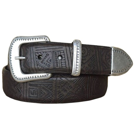 Lejon Aztec-Inspired Belt - Steerhide Leather (For Men)