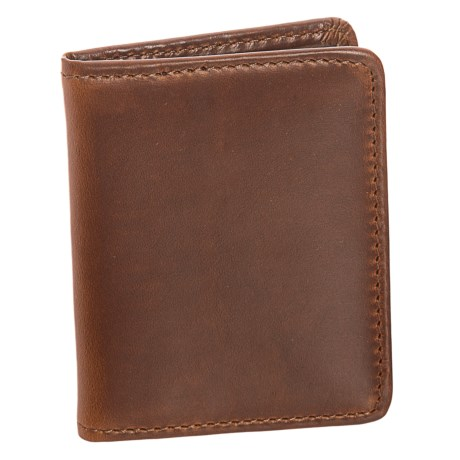 Lejon Bifold Leather Wallet (For Men) in Cognac