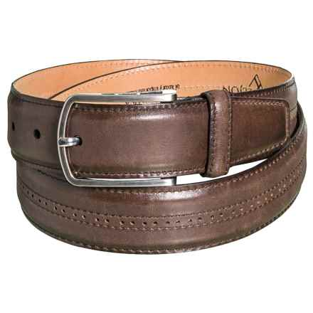 Lejon Embossed Leather Belt (For Men) in Brown - Closeouts
