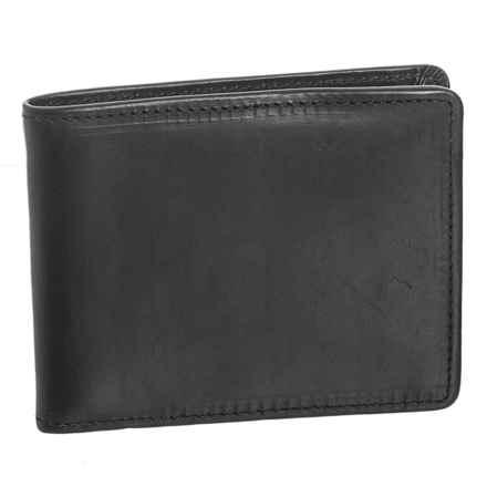 Lejon Horween® Leather Flat Fold Wallet (For Men) in Black - Closeouts