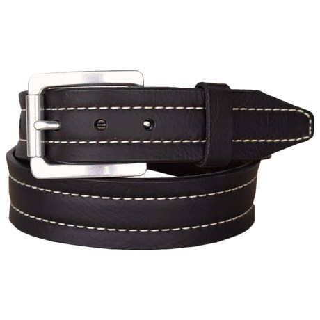 Lejon Mojave II Bison Leather Belt (For Men) in Black