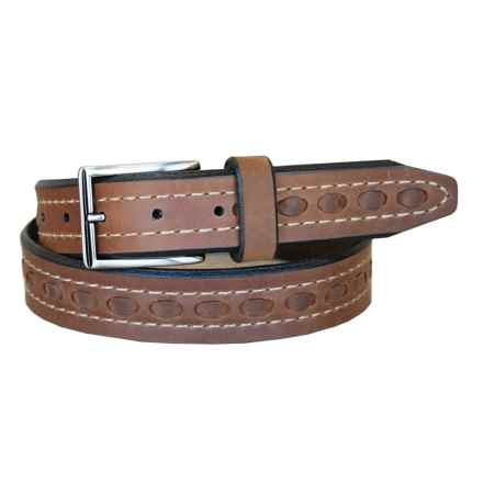 Lejon Oil-Tanned Nubuck Belt (For Men) in Tan - Closeouts