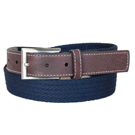 Lejon On Par Belt - Italian Cotton (For Men) in Navy - Closeouts