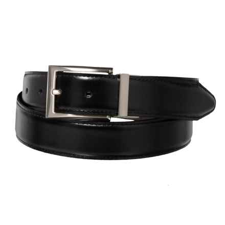 Lejon Reversible Smooth Leather Dress Belt with Metal Buckle (For Men) in Black/Brown - Closeouts