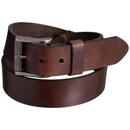 Lejon Smooth Leather Dress Belt with Buckle (For Men) in Brown - Closeouts