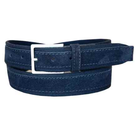 Lejon Suede Overlay Cotton Belt (For Men) in Navy - Closeouts