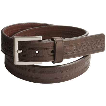 Lejon Vintage Bison Leather Belt (For Men) in Chocolate/Brown - Closeouts