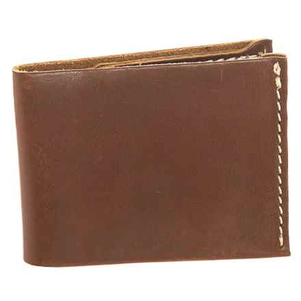 Lejon Washed Leather Bifold Wallet (For Men) in Brown - Closeouts