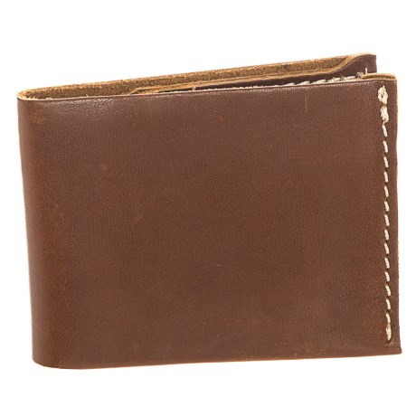 Lejon Washed Leather Bifold Wallet (For Men) in Brown