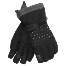 LEKI Angel S Quilted Ski Gloves - Waterproof, Insulated (For Women) in Black/Silver - Closeouts