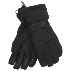 LEKI Angel S Quilted Ski Gloves - Waterproof, Insulated (For Women) in Black/Silver