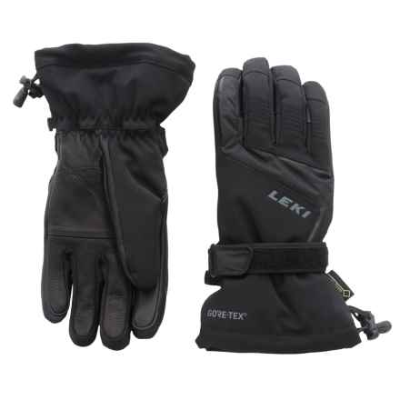 LEKI Curve S Gore-Tex® Gloves - Waterproof, Insulated (For Men and Women) in Black - Closeouts