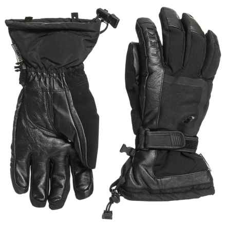 LEKI Detect S Skiing Gloves - Waterproof, Insulated, Leather (For Men and Women) in Black - Closeouts