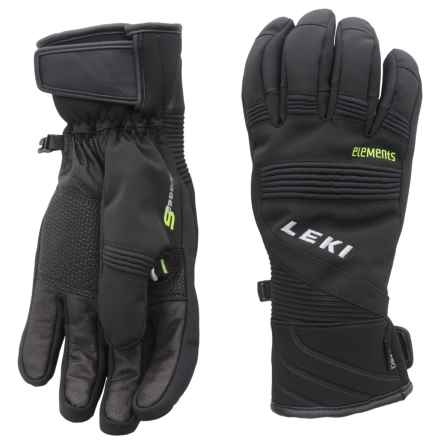 LEKI Elements Palladium S Gloves - Waterproof, Insulated (For Men and Women) in Black - Closeouts