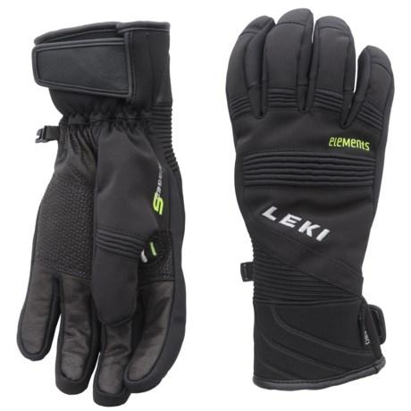 LEKI Elements Palladium S Gloves - Waterproof, Insulated (For Men and Women) in Black