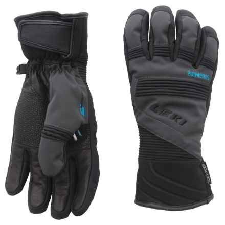 LEKI Elements Palladium S Gloves - Waterproof, Insulated (For Men and Women) in Charcoal/Black - Closeouts