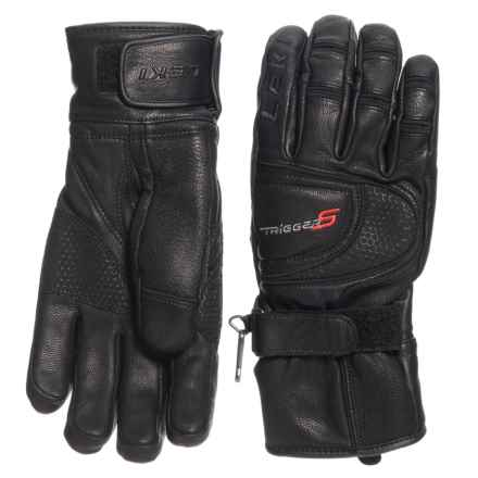 LEKI Force S Gloves - Leather (For Men and Women) in Black - Closeouts