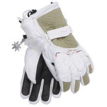 LEKI Gore-Tex® Canny S Ski Gloves - Waterproof, Insulated (For Women) in White/Sand - Closeouts