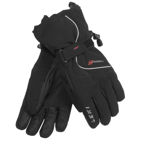 LEKI Gore-Tex® Core S Ski Gloves - Waterproof, Insulated (For Men and Women) in Black