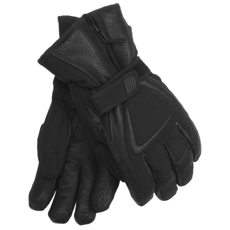 LEKI Gore-Tex® Spirit S Ski Gloves - Waterproof, Insulated (For Women) in Black