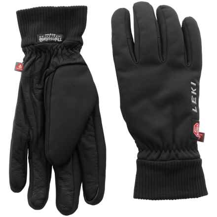 LEKI Hiker Pro Windstopper® Gloves - Insulated, Touchscreen Compatible (For Men and Women) in Black - Closeouts