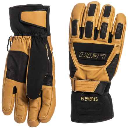 LEKI Krypton S HyperLoft Gloves - Insulated (For Men and Women) in Tan/Black - Closeouts