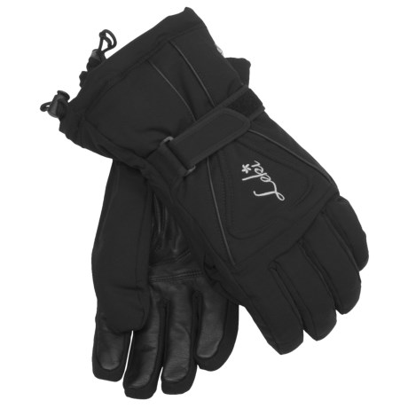 LEKI Lotus S Ski Gloves - Waterproof, Insulated (For Women) in Black/Silver