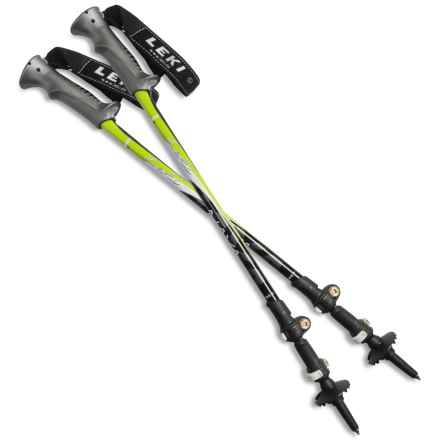LEKI Naya Speed Lock® Trekking Poles (For Women) in Silver/Green - Closeouts