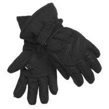 LEKI Pegasus Ski Gloves - Waterproof, Insulated (For Men and Women) in Black - Closeouts