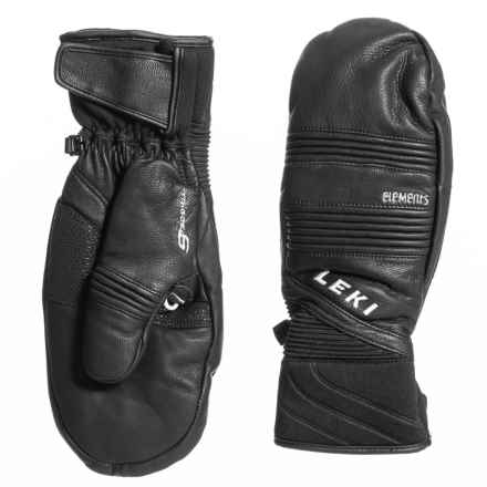 LEKI Platinum S SuperLoft Mittens - Leather, Insulated (For Men and Women) in Black - Closeouts