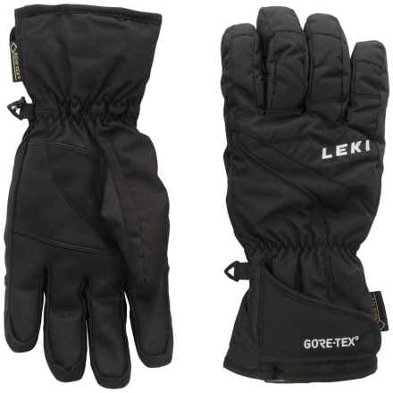 LEKI Sceon S Gore-Tex® Gloves - Waterproof, Insulated (For Men and Women) in Black - Closeouts