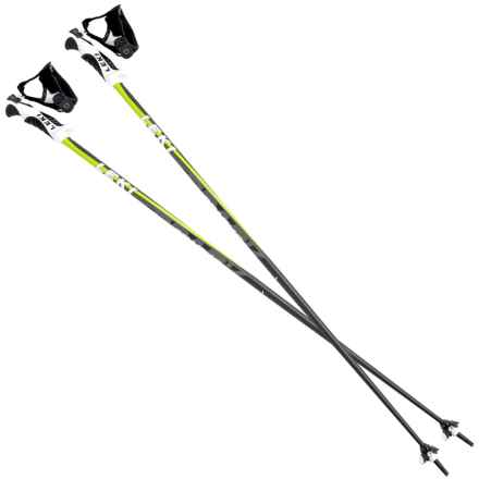 LEKI Spark S Fixed Length Ski Poles in Anthracite/Green - Closeouts