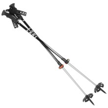 LEKI Tour Vario Speedlock Backcountry Adjustable Ski Poles - Pair in Black/Silver - Closeouts