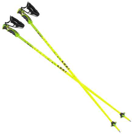 LEKI Trigger Series Spitfire S Ski Poles - Fixed Length in Yellow - 2nds