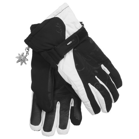 LEKI Velvet S Ski Gloves - Waterproof (For Women) in Black