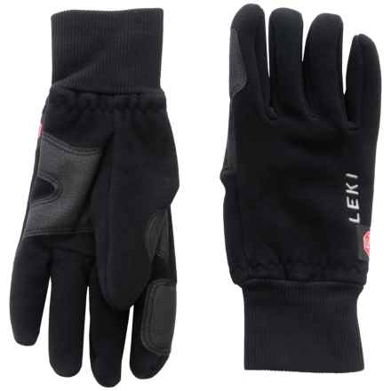 LEKI Windstopper® Fleece Gloves (For Men and Women) in Black - Closeouts