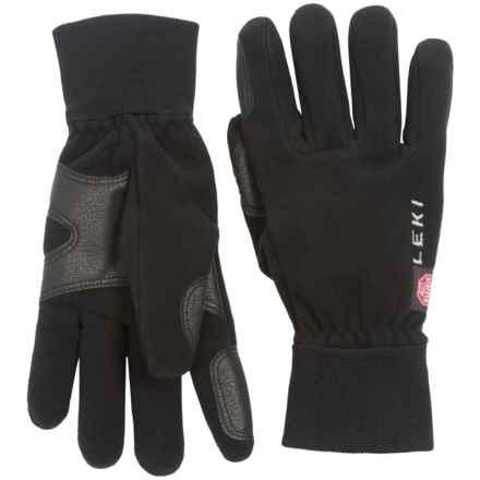 LEKI Windstopper® Fleece Gloves (For Women) in Black - Closeouts