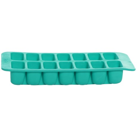Lekue Silicone Rectangular Ice Cube Tray in Turquoise