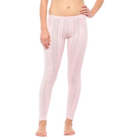 Lemon Anew Sleepy Cable-Knit Leggings (For Women) in Rosewater