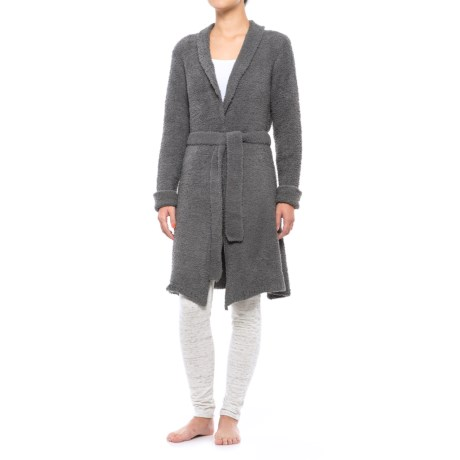 Lemon Anew Twisted Towel Robe - Long Sleeve (For Women) in Pewter