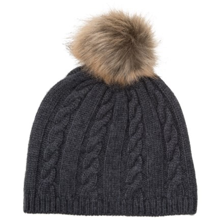 7b2edc60 Lemon Fluffy Cable Beanie (For Women) in Blackness - Closeouts