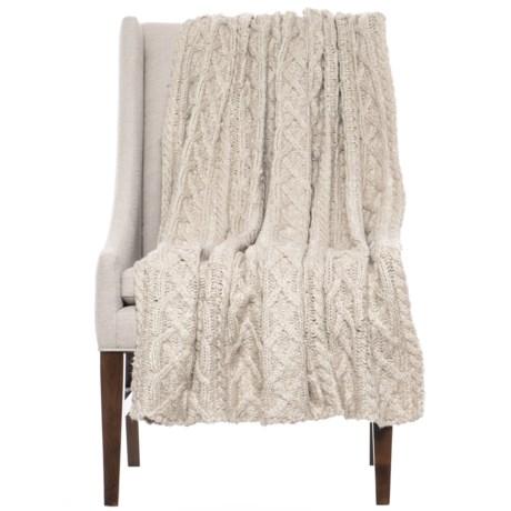 "Lemon Home Sweet Marshmallow Dreams Throw Blanket - 52x68"" in Latte"