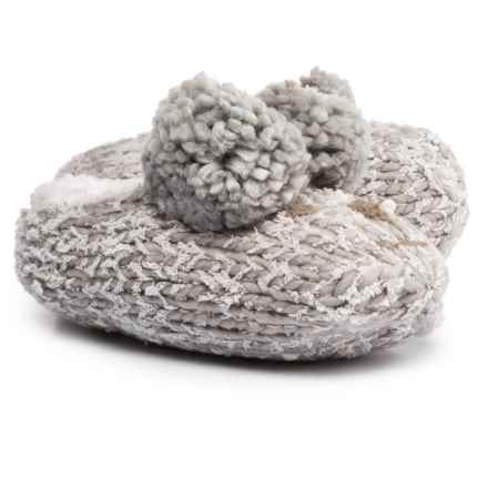 Lemon Iceland Bear Bootie Slippers - Berber Fleece Lined (For Women) in Oxford - Closeouts