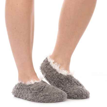 LemonTeddy Bear Bootie Slippers (For Women) in Graphite - Closeouts